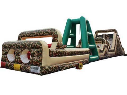 Military inflatable obstacle course