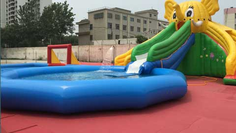 Inflatable-Swimming-Pool-With-Slides