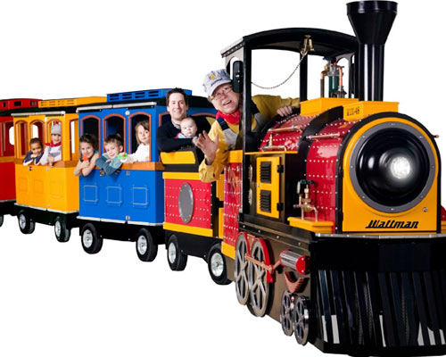 Trackless train for kids