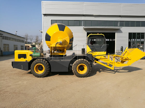 self propelled concrete mixer